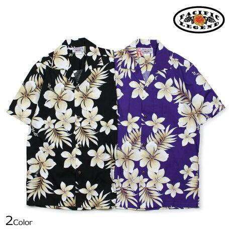 パシフィック レジェンド Pacific legend アロハシャツ メンズ ハワイ製 HAWAIIAN SHIRTS ブラック パープル 410-3559 [予約商品 6/30頃入荷予定 新入荷]