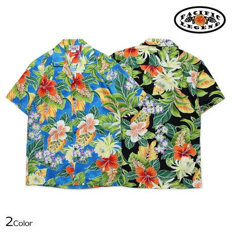 パシフィック レジェンド Pacific legend アロハシャツ メンズ ハワイ製 HAWAIIAN SHIRTS ブラック ブルー 410-3799 [予約商品 6/30頃入荷予定 新入荷]