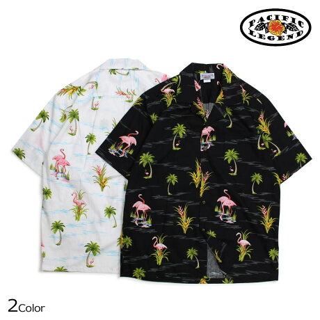 パシフィック レジェンド Pacific legend アロハシャツ メンズ ハワイ製 HAWAIIAN SHIRTS ブラック ホワイト 410-3826 [予約商品 6/30頃入荷予定 新入荷]