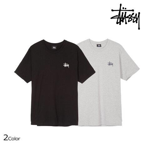 ステューシー STUSSY Tシャツ メンズ 半袖 BASIC STUSSY TEE ブラック グレー 1904221 [予約商品 6/30頃入荷予定 新入荷]