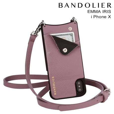 BANDOLIER バンドリヤー iPhoneX ケース スマホ アイフォン EMMA IRIS レザー メンズ レディース [9/19 新入荷]