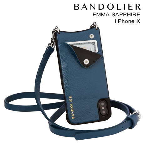 BANDOLIER バンドリヤー iPhoneX ケース スマホ アイフォン EMMA SAPPHIRE レザー メンズ レディース [9/19 新入荷]