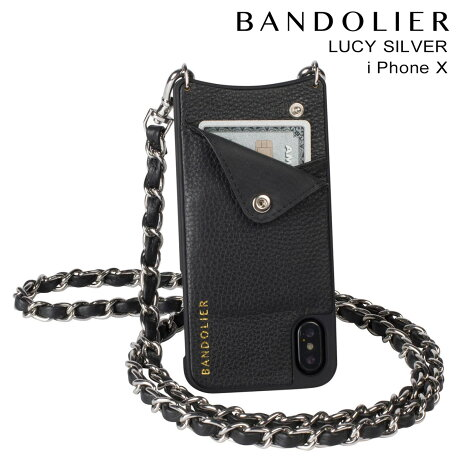 BANDOLIER バンドリヤー iPhoneX ケース スマホ アイフォン LUCY SILVER レザー メンズ レディース [予約商品 9/14頃入荷予定 新入荷]