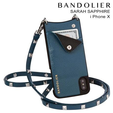 BANDOLIER バンドリヤー iPhoneX ケース スマホ アイフォン SARAH SAPPHIRE レザー メンズ レディース [9/19 新入荷]
