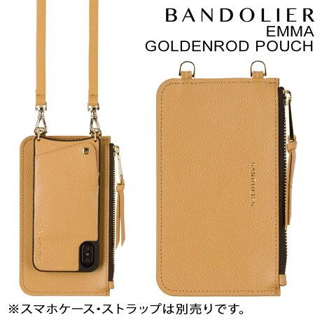 BANDOLIER バンドリヤー ポーチ EMMA GOLDENROD POUCH レザー メンズ レディース ベージュ [9/20 新入荷]