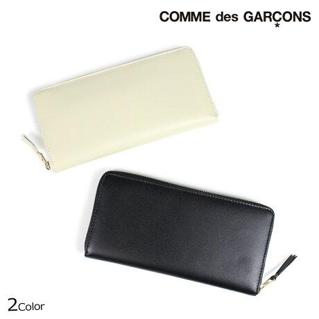 コムデギャルソン 財布 メンズ レディース 長財布 ラウンドファスナー COMME des GARCONS SA0110 ブラック オフホワイト [9/10 新入荷]