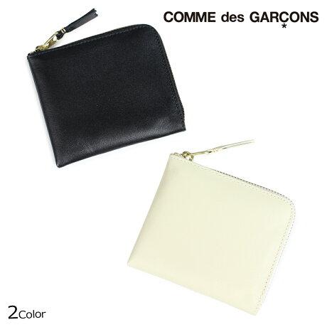 コムデギャルソン 財布 二つ折り メンズ レディース ラウンドファスナー COMME des GARCONS SA3100 ブラック オフホワイト [9/10 新入荷]