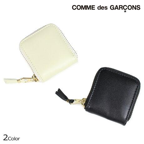 コムデギャルソン 小銭入れ メンズ レディース ラウンドファスナー COMME des GARCONS SA4100 ブラック オフホワイト [9/10 新入荷]