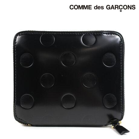 コムデギャルソン 財布 二つ折り メンズ レディース ラウンドファスナー COMME des GARCONS SA2100NE ブラック