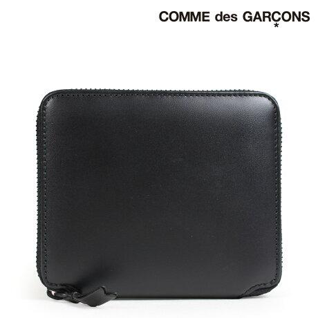 コムデギャルソン 財布 二つ折り メンズ レディース ラウンドファスナー COMME des GARCONS SA2100VB ブラック