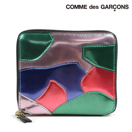 コムデギャルソン 財布 二つ折り メンズ レディース ラウンドファスナー COMME des GARCONS SA2100PM マルチカラー [9/11 新入荷]