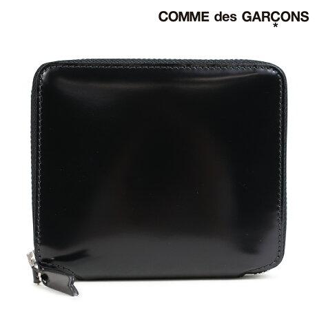 コムデギャルソン 財布 二つ折り メンズ レディース ラウンドファスナー COMME des GARCONS SA2100MI ブラック