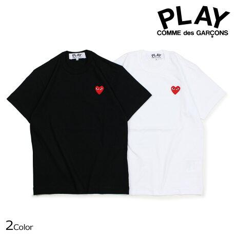 コムデギャルソン PLAY Tシャツ 半袖 COMME des GARCONS メンズ RED HEART T-SHIRT ブラック ホワイト AZT108 [10/3 新入荷]