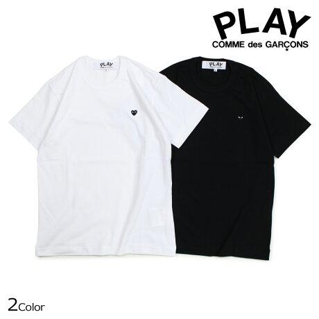 コムデギャルソン PLAY Tシャツ 半袖 COMME des GARCONS メンズ BLACK HEART T-SHIRT ブラック ホワイト AZT202 [10/3 新入荷]