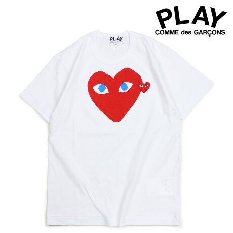 コムデギャルソン PLAY Tシャツ 半袖 COMME des GARCONS メンズ RED HEART T-SHIRT ホワイト AZT086 [10/3 新入荷]