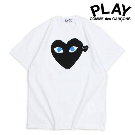 コムデギャルソン PLAY Tシャツ 半袖 COMME des GARCONS メンズ BLACK HEART T-SHIRT ホワイト AZT088 [10/3 新入荷]
