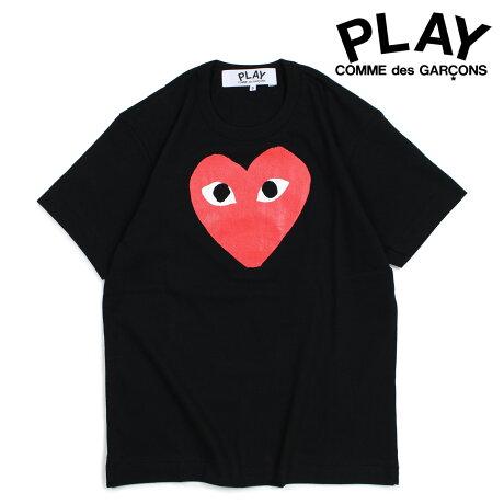 コムデギャルソン PLAY Tシャツ 半袖 COMME des GARCONS メンズ RED HEART T-SHIRT ブラック AZT112 [10/3 新入荷]