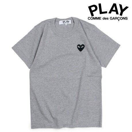 コムデギャルソン PLAY Tシャツ 半袖 COMME des GARCONS レディース BLACK HEART T-SHIRT グレー AZT075 [10/3 新入荷]