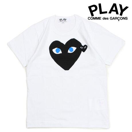 コムデギャルソン PLAY Tシャツ 半袖 COMME des GARCONS レディース BLACK HEART T-SHIRT ホワイト AZT087 [10/3 新入荷]