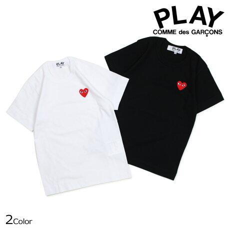 コムデギャルソン PLAY Tシャツ 半袖 COMME des GARCONS レディース RED HEART T-SHIRT ブラック ホワイト AZT107 [10/3 新入荷]