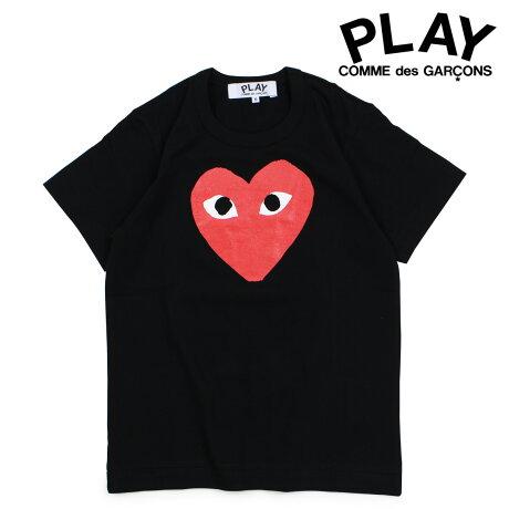 コムデギャルソン PLAY Tシャツ 半袖 COMME des GARCONS レディース RED HEART T-SHIRT ブラック AZT111 [10/3 新入荷]