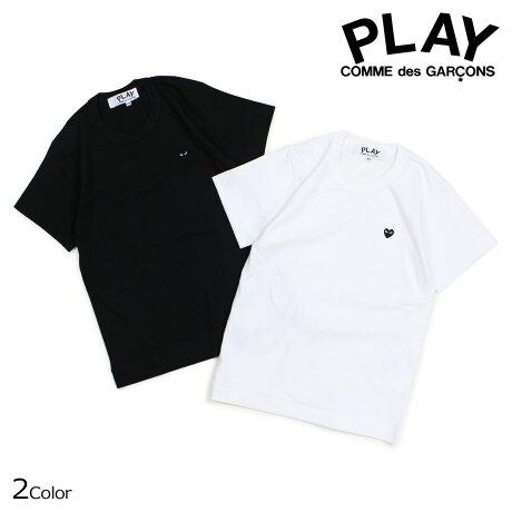 コムデギャルソン PLAY Tシャツ 半袖 COMME des GARCONS レディース BLACK HEART T-SHIRT ブラック ホワイト AZT201 [10/3 新入荷]