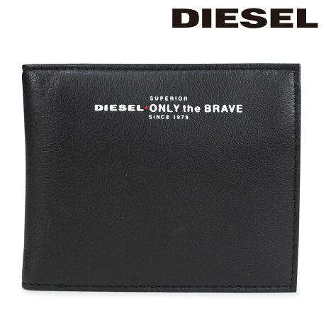 ディーゼル 財布 DIESEL メンズ 二つ折り財布 READY TO STAR HIRESH S X05590 PR400 H2691 ブラック [10/12 新入荷]