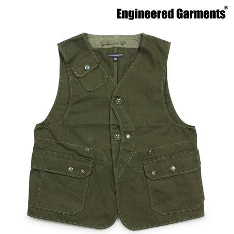 エンジニアドガーメンツ ENGINEERED GARMENTS ベスト メンズ ジレ UPLAND VEST オリーブ [10/4 新入荷]