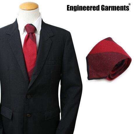 エンジニアドガーメンツ ENGINEERED GARMENTS ネクタイ メンズ チェック カジュアル NECK TIE レッド [10/4 新入荷]