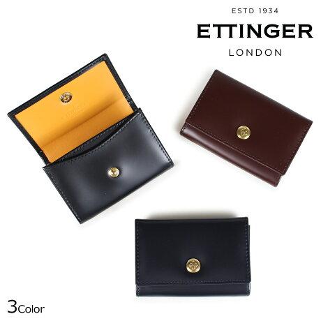 エッティンガー ETTINGER 財布 コインケース 小銭入れ メンズ BRIDLE COIN PURSE WITH CARD POCKET ブラック ネイビー ブラウン BH2034DJR [9/18 新入荷]
