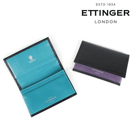 エッティンガー ETTINGER 名刺入れ カードケース メンズ VISITING CARD CASE ブラック ST143JRB [9/18 新入荷]
