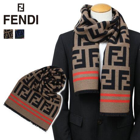 フェンディ FENDI マフラー メンズ レディース ウール シルク ブラウン マルチ FXT151 A3Q1 [9/26 新入荷]