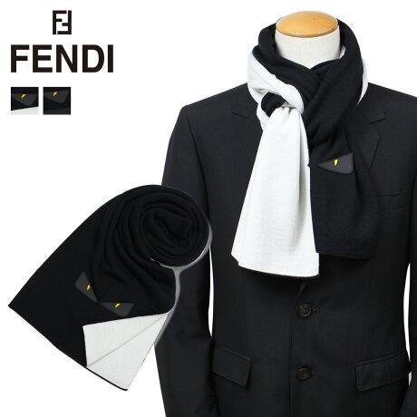 フェンディ FENDI マフラー モンスター メンズ バッグ バグズ BAG BUGS ブラック グレー FXS124 A11Q [9/25 新入荷]