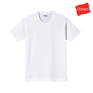 Hanes ヘインズ Tシャツ ジャパンフィット メンズ 半袖 2枚組 ブルーパック クルーネック ホワイト 白 H5210
