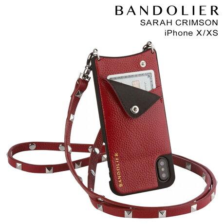 バンドリヤー BANDOLIER iPhoneXS X ケース スマホ アイフォン SARAH CRIMSON レザー メンズ レディース [10/25 新入荷]