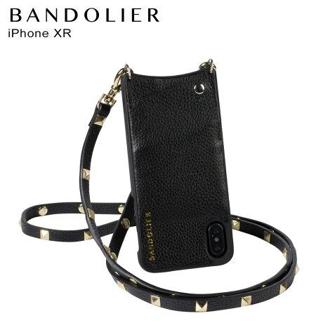 バンドリヤー BANDOLIER iPhone XR ケース スマホ 携帯 ショルダー アイフォン レザー SARAH GOLD メンズ レディース ブラック 10SAR1001