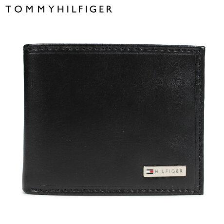 トミーヒルフィガー TOMMY HILFIGER 財布 二つ折り メンズ レザー FORDHAM ブラック 31TL130049-001 [予約 2/28 再入荷予定]