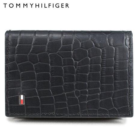 トミーヒルフィガー TOMMY HILFIGER 名刺入れ カードケース メンズ レザー CARD CASE ブラック 31TL200015-001 [予約 2/28 再入荷予定]