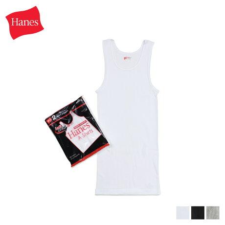 ヘインズ Hanes Aシャツ タンクトップ メンズ レディース 2枚組 コットン ホワイト 白 HM2-K701