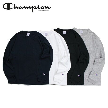 チャンピオン Champion Tシャツ 長袖 メンズ レディース LONG SLEEVE T-SHIRT ブラック ホワイト グレー ネイビー 黒 白 C5-P401