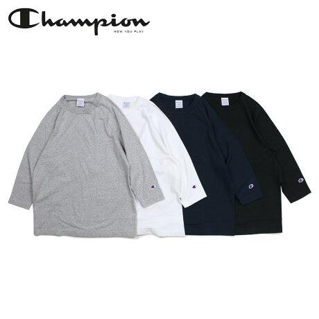 チャンピオン Champion Tシャツ ラグラン 七分袖 メンズ レディース T1011 RAGLAN 3/4 SLEEVE T-SHIRT ブラック ホワイト グレー ネイビー 黒 白 C5-P404