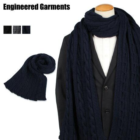 エンジニアドガーメンツ ENGINEERED GARMENTS マフラー ストール メンズ KNIT SCARF ブラック グレー ネイビー 19FH018 [10/7 新入荷]