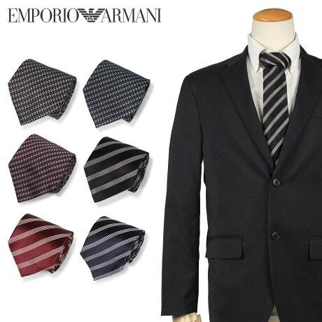 エンポリオ アルマーニ EMPORIO ARMANI ネクタイ メンズ イタリア製 シルク ビジネス 結婚式 ブラック グレー ネイビー ワインレッド レッド ダーク ブルー 黒 [10/10 新入荷]