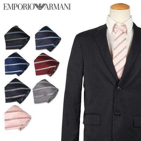 エンポリオ アルマーニ EMPORIO ARMANI ネクタイ メンズ イタリア製 シルク ビジネス 結婚式 ブラック グレー ネイビー ワイン レッド ブルー ピンク 黒 [10/10 新入荷]