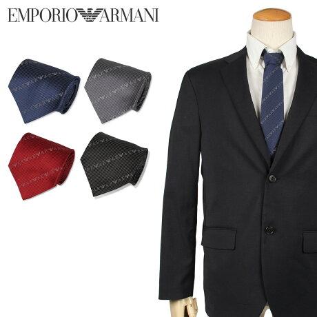 エンポリオ アルマーニ EMPORIO ARMANI ネクタイ メンズ イタリア製 シルク ビジネス 結婚式 ブラック グレー ネイビー レッド 黒 [10/10 新入荷]