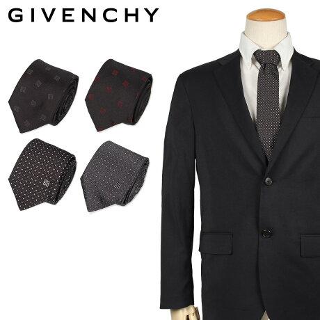 ジバンシー GIVENCHY ネクタイ メンズ イタリア製 シルク ビジネス 結婚式 ブラック グレー 黒 [10/11 新入荷]