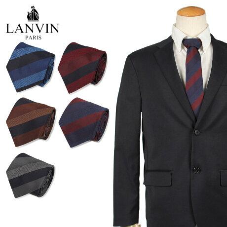 ランバン LANVIN ネクタイ メンズ フランス製 シルク ビジネス 結婚式 グレー ネイビー ブラウン レッド [10/10 新入荷]
