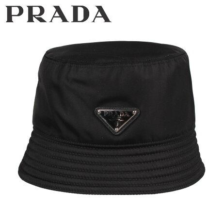 プラダ PRADA ハット キャップ 帽子 バケットハット メンズ レディース RAIN CAP ブラック 黒 2HC1372B15 [10/9 新入荷]