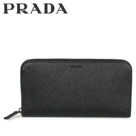プラダ PRADA 財布 長財布 メンズ サフィアーノ ラウンドファスナー ZIP AROUND ブラック 黒 2ML317053 [10/8 新入荷]