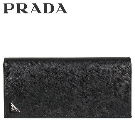 プラダ PRADA 財布 長財布 メンズ サフィアーノ VERTICAL WALLET ブラック 黒 2MV836QHH [10/8 新入荷]